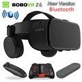 2019 новые Bobo vr Z6 VR очки беспроводные Bluetooth наушники VR очки Android IOS Удаленная реальность VR 3D картонные очки