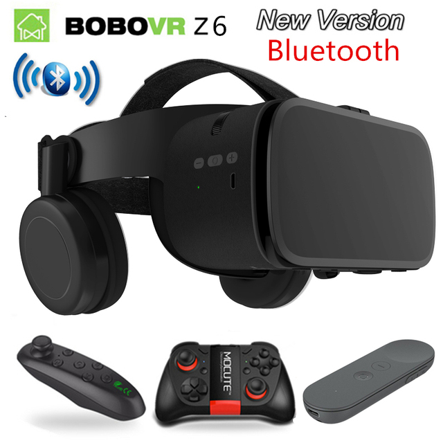 2019 Newest Bobo vr Z6 VR glasses Wireless Bluetooth Earphone VR goggles Android IOS Remote Reality VR 3D cardboard Glasses