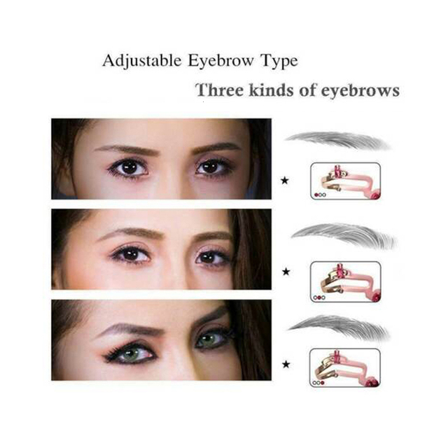 3 In 1 Eyebrow Shapes Stencil Adjustable Portable Eyebrow Makeup Model Template Tool 2019 Durable Women Eyebrow Stencil Shaper 3