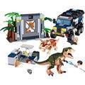 Парк Юрского периода серия динозавров внедорожный автомобиль Раптор Трицератопс строительные блоки наборы Кирпичи Детские комплекты совм...