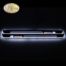 цена на Ultrathin Acrylic LED door sill for Volkswagen golf 7 GOLF VII MK7 MK7.5 2012-2018 Led moving door scuff plate Pathway light
