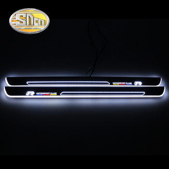 Ultrathin Acrylic LED door sill for Volkswagen golf 7 GOLF VII MK7 MK7.5 2012-2018 Led moving scuff plate Pathway light
