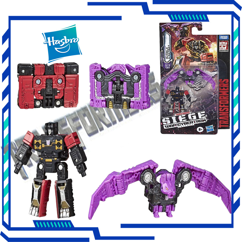 Hasbro Transformers Generations War for Cybertron Siege Micromaster WFC-S46 Rumble Soundwave Spy Patrol Transformer Robot Gift