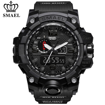 SMAEL Sport Watch for Men Waterproof Quartz Analog LED Electronic Men's Wristwatch Clock Male Digital Wrist watches Montre Homme