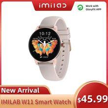 Imilab kw66 relógio inteligente das mulheres dos homens w11 smartwatch pedômetro freqüência cardíaca monitor de sono esporte fitness rastreador ip68 senhora smartwatches