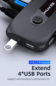 Image 4 - Unnlink 2 יציאות HDMI KVM מתג עם Extender 4K 1080P USB2.0 שיתוף מדפסת צג מקלדת עכבר עבור 2 מחשבים מחשבים ניידים ps4