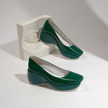 2021 moda primavera/estate donna scarpe con plateau donna tacco alto zeppe in vera pelle pompe da donna nero/Beige/rosso/bianco/verde