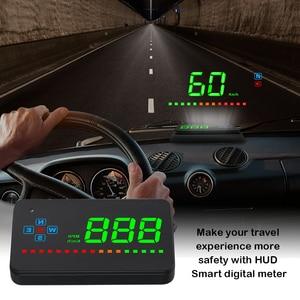 """Image 2 - A2 מראה GPS HUD הראש למעלה תצוגה רכב מהירות שמשה קדמית מקרן אוטומטי מד מהירות קמ""""ש/KPM אוניברסלי דיגיטלי מד מהירות"""