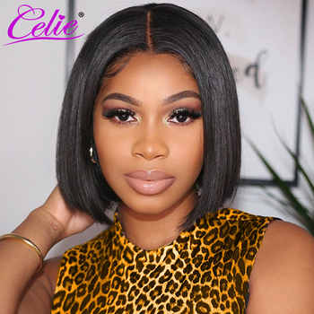 Celie Hair Short Bob Lace Front Wigs For Black Women Remy 13x4 Straight Lace Front Human Hair Wigs Pre Plucked With Baby Hair - DISCOUNT ITEM  60% OFF All Category