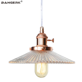 Modern Adjust Switch Pendant Lamps Loft Decor LED Edison Industrial Hanging Light Iron Glass Fixtures Dining Room Home Lighting
