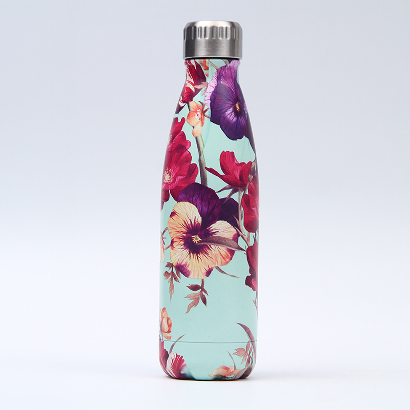 Heccec3d15dee49d496ad6b221f217957Z Creative Floral Thermos Flask Stainless Steel Water Bottle Leakproof Gym Sport Drink Bottle For Water Cool Insulated Cup Mug