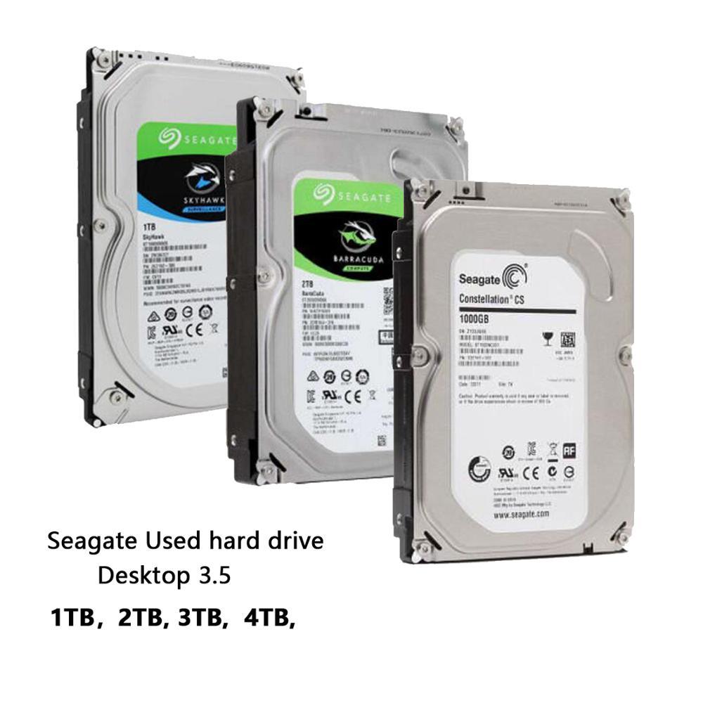 "Seagate 1 tb 2 tb 3 tb 4 tb desktop 3.5 ""disco rígido mecânico interno sata 3 gb/s-6Gb/s hdd 5900-7200 rpm 64 mb/128 mb buffer (usado)"