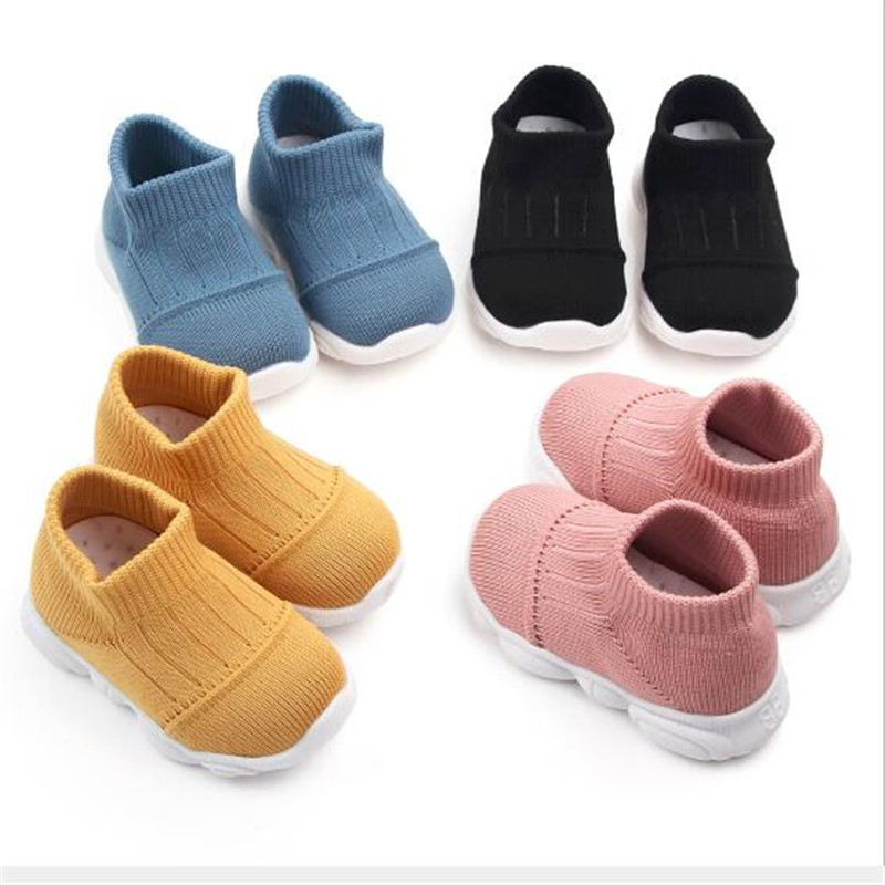 Fashion Baby Shoes Kids Breathable First Walkers Baby Soft Rubber Sole Children Anti-slip Sport Shoes Boys Girls Casual Shoes