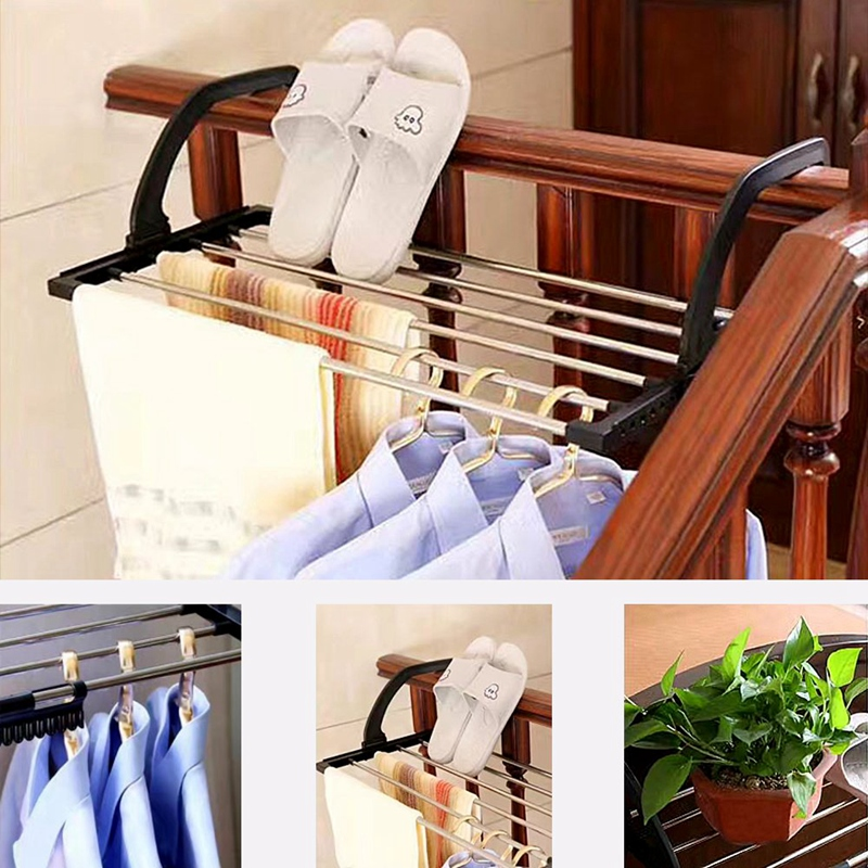 Small Clothes Drying Rack With Clips For Drying Socks,Retractable Stainless Steel Folding Laundry Mini Towel Hanging Drying Rack