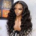 Индийские свободные глубокие волны 4*4 парики из человеческих волос на сетке для черных женщин парик плотности 180 предварительно выщипанные ...