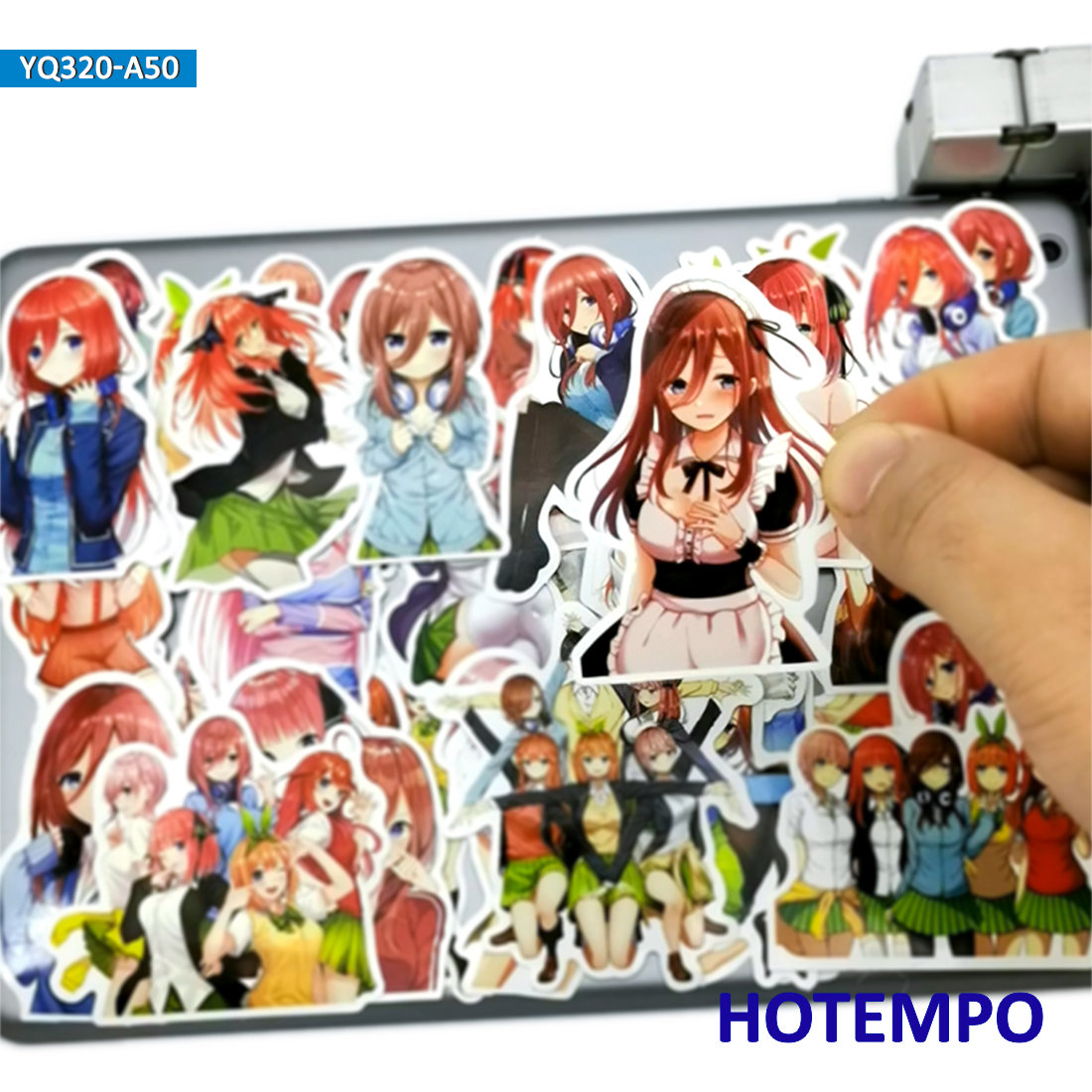 50pcs Cute Anime The Quintessential Quintuplets Stickers For Mobile Phone Laptop Pad Case Luggage Kawaii Cartoon Decal Stickers