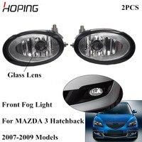 Hoping 2PCS Auto Front Bumper Fog Light For Mazda 3 Hatchback 1.6L 2007 2008 2009 Front Fog Lamp