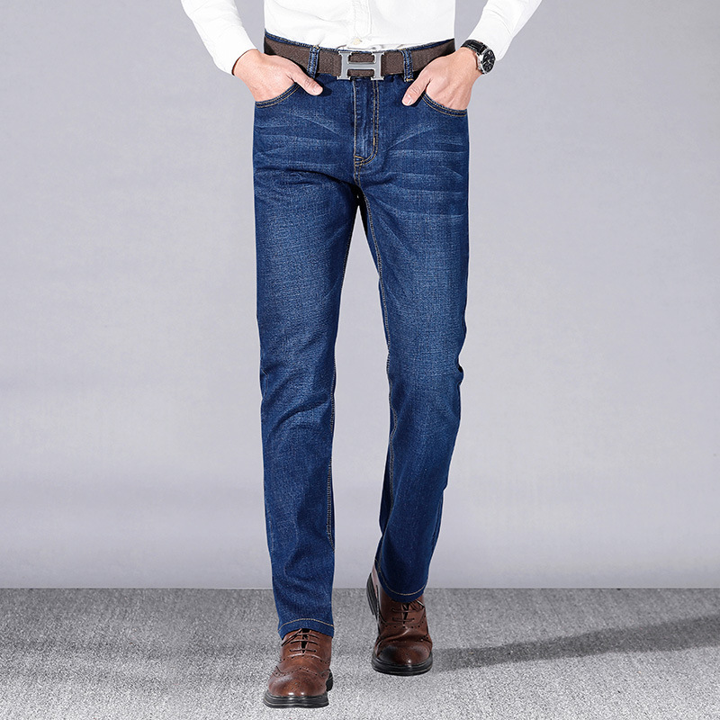 -P41 2019 Spring And Summer New Style Jeans Men's Business Slim Fit Elasticity Plus-sized Menswear Casual Pants