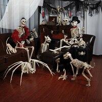 Neue Skeleton Drachen Hund Tier 100% Kunststoff Tier Skeleton Knochen Horror Halloween Prop Tier Horror House Party Dekoration