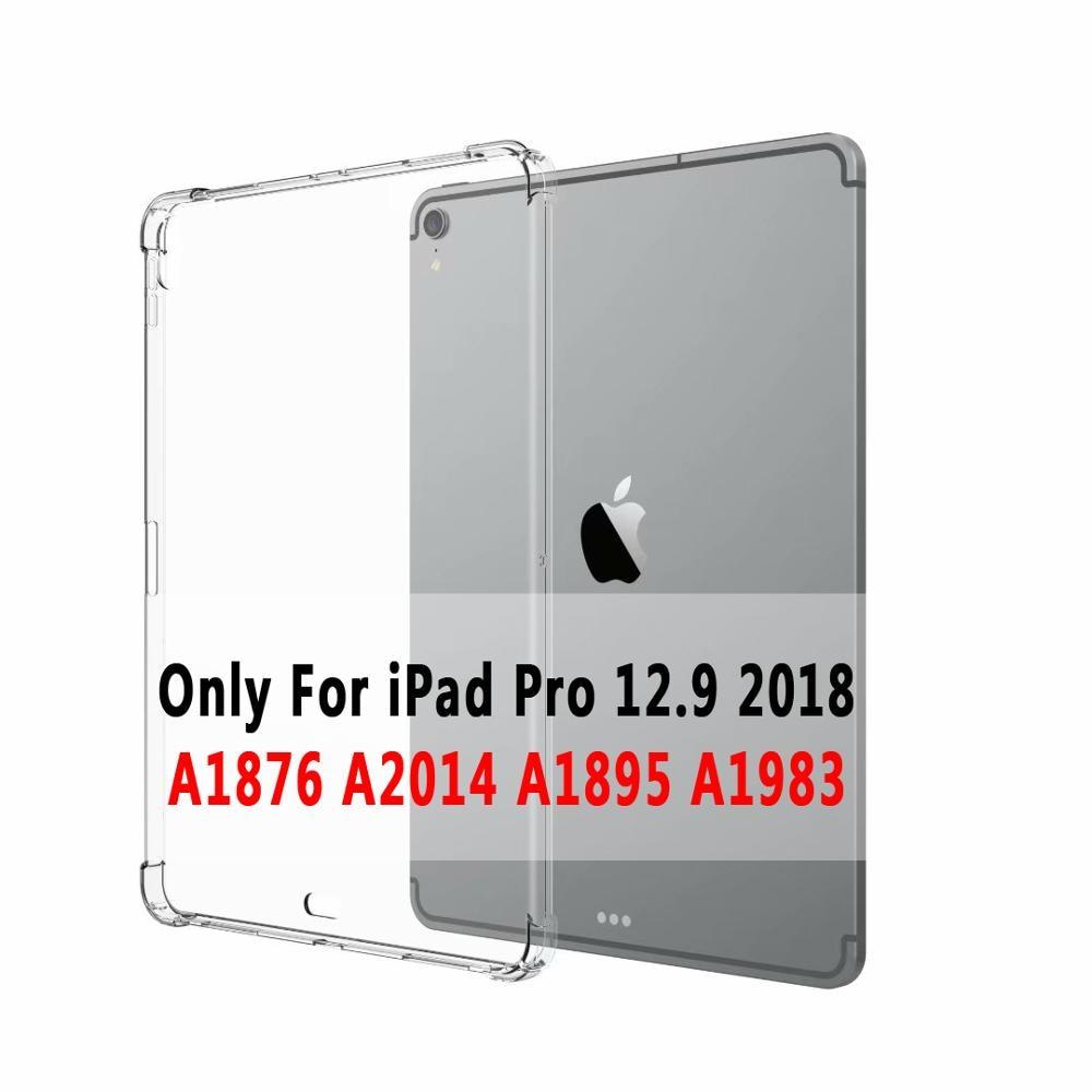 iPad 2018 Silicone 12.9 Slim Pro Cover 2015 A1652 For A1584 2017 Ultra Soft 2020 Case