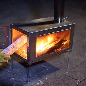 Image 4 - Уличная сверхлегкая деревянная плита из титанового сплава Thous wind bush craft, съемная плита, многофункциональная палатка для кемпинга, нагревательная плита