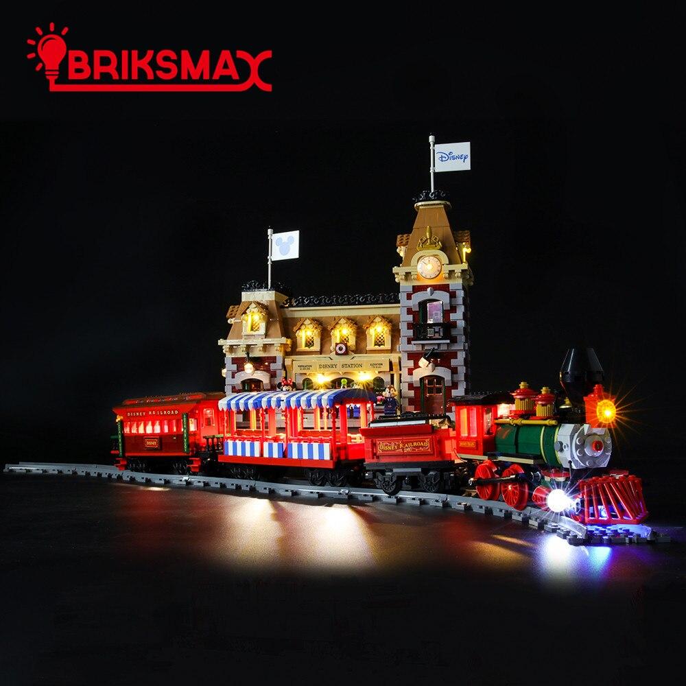 BriksMax kit d'éclairage LED pour ensemble d'éclairage de Train et de gare 71044 D seulement (pas de Train et de blocs de construction)