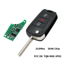 3 buttons 315Mhz Replacement Smart Remote Key Keyless Fob For Kia Sportage Soul 2010-2013 ID46 Chip NYOSEKSAM11ATX,TQ8-RKE-3F02