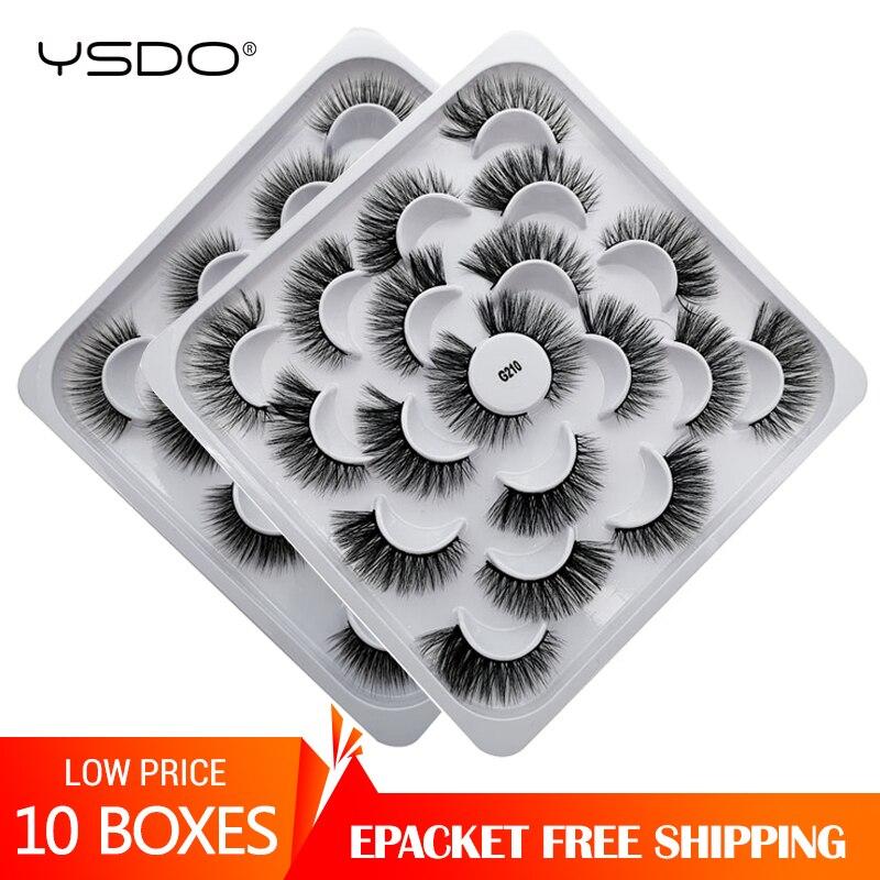 YSDO Eyelashes Wholesale 100 Pairs 3d Mink Lashes Dramatic False Eyelashes Full Strip Lashes Maquillaje Natural Mink Eyelashes