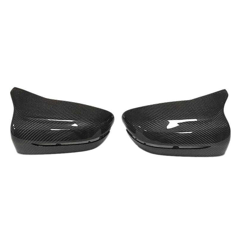 2Pcs Car Carbon Fiber Side Mirror Cover Left Driver for Bmw G11 G12 G30 G38 2017 2019|Styling Mouldings| |  - title=