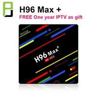 H96 MAX Plus Smart TV Box Android 9.0 4GB Ram 32GB/64GB Rom Rockchip RK3328 4K H.265 USB3.0 2.4Ghz WiFi with IPTV subscription