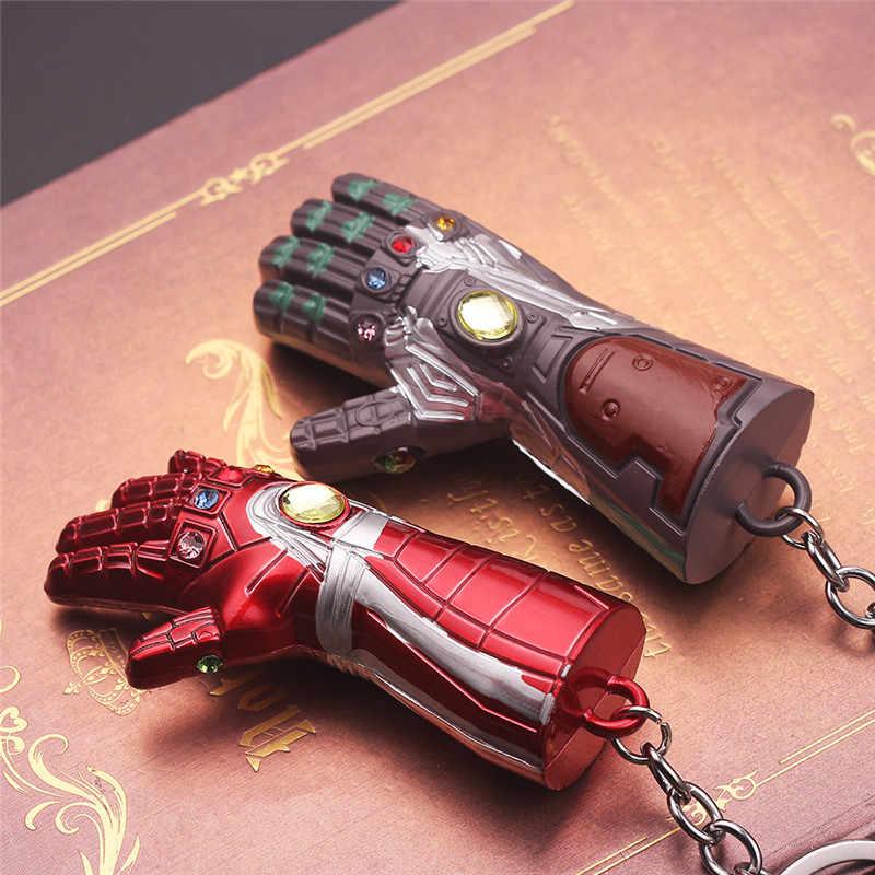 Martello di Thor Marvel Portachiavi SuperHeroe The Avengers Portachiavi Ciondolo Lettera di UN Portachiavi Porte Clef Chaveiro Iron Man Supporto Chiave