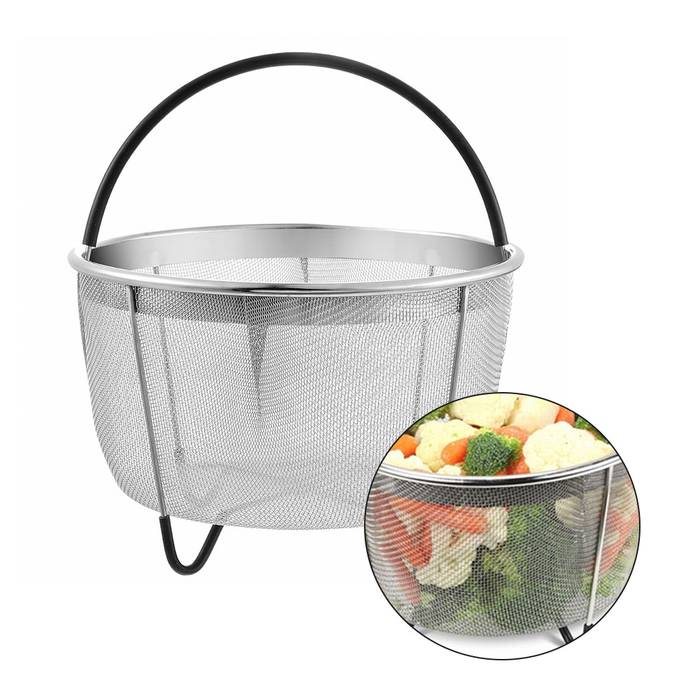 Pressure Cookers Steamer Basket Stainless Steel Mesh Strainer Steam Egg Meat Veggie Insert Steaming Tool