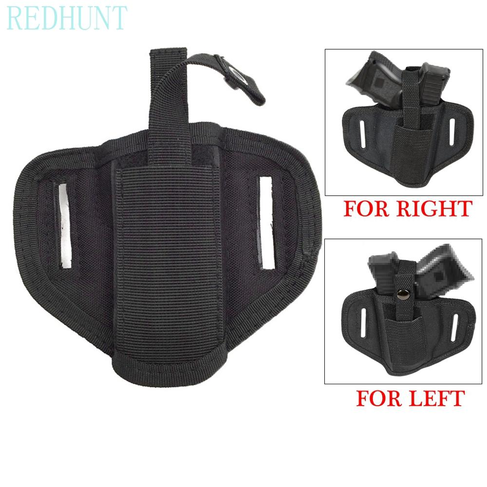 2020 New Right/Left Concealed Handgun Belt Holster Ideal for small middle size Hand handguns Pistol Waist Pouch Magazine Bag image