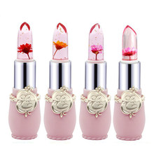 Waterproof Transparent Flower Jelly Lipstick Temperature Change Color Lip Balm Long Lasting Moisturizer Lip Cosmetic Makeup Tool(China)