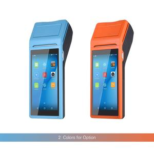 Image 1 - Mobile Handheld PDA Android Pos Terminal Terminales 3G Wireless Wifi Bluetooth PDA With 58mm Thermal Printer 5.5 Touch Screen