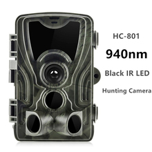 лучшая цена Goujxcy HC801 Trail Camera 16mp 1080p 940nm infrared LED Hunting camera Night Vision Photo Traps waterproof camera Scout suntek