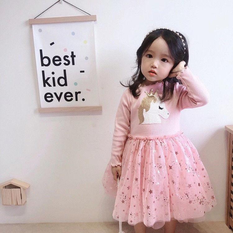 2020 Baby Girl Fashion Clothing Set Cute  Dress girls Infant Elegant Clothes Sets Children Party Birthday Wear 8