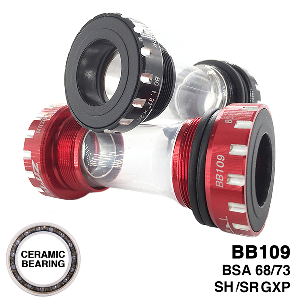 ZTTO BB109 CERAMIC Bearing Bicycle Bottom Bracket MTB Road Bike BSA 68/73 Compatible For SH SR GXP Crankset