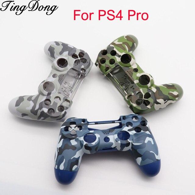 PS4 Pro 4.0 futerał na kontroler przód tył pod obudową obudowy obudowy do kontrolera Playstation 4 Pro V2 JDS040 JDM040 kamuflaż