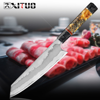 XITUO 7 Layer Composite Steel Kitchen Chef Knife 8 Inch Cleaver Slice Paring Gyuto Knife Exquisite Octagonal Stable Wood Handle