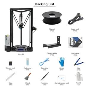 Image 3 - Anycubic 3D drukarki Kossel drukuj Plus rozmiar gadżet Auto moduł poziomu platformy 3d drukarki zestawy DIY drukarka 3d
