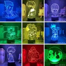 Anime hunterxhunter 3d led night light 7 mudança de cor da lâmpada decoração do quarto animação figura periférica brinquedo presente natal