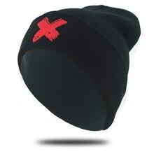 Nuovo caldo di inverno hip hop del cappello del ricamo bone caldo lavorato a maglia beanie cap per degli uomini di Autunno di modo delle donne berretti da sci