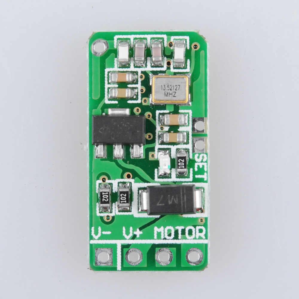 محرك صغير جدا مفتاح بالتحكم عن بعد 3.7 فولت 4.5 فولت 5 فولت 6 فولت 7.4 فولت 9 فولت 12 فولت محرك صغير حتى أسفل وقف إلى الأمام عكس مايكرو راديو التبديل 433 ميجا هرتز