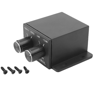 Image 2 - Nieuwe Auto Eindversterker Audio Regulator Bass Subwoofer Equalizer Crossover Controller 4 Rca Passen Lijn Niveau Volume Versterker