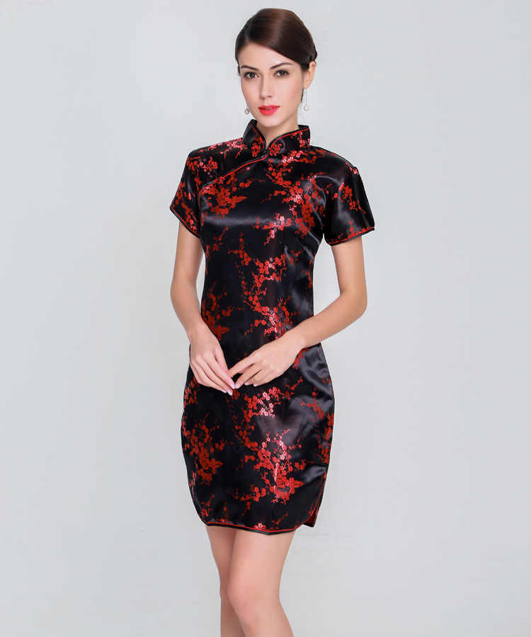 Qipao Vestido Chino Elegante De Talla Grande Para Mujer Vestido Femenino De Rayon Con Cuello Mandarin Cheongsam Vintage Vestidos De Talla Grande 5xl 6xl 2019 Qipaos Aliexpress