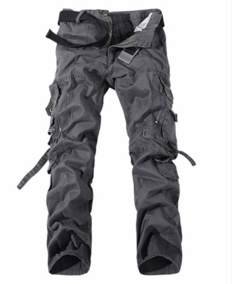 2019 Men Clothes Tactical Cargo Pants Man Combat Army Military Pants Cotton Many Pockets Stretch Flexible Man Casual Trousers