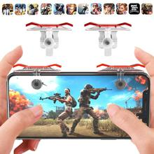 2Pcs PUBG Moible Phone Controller Gamepad Free Fire L1 R1 Trigger Game Pad Grip Joystick For IPhone Android Pubg Gamepads