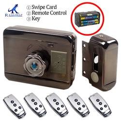 AA batería seca fácil de instalar cerradura inteligente RFID cerradura de puerta de casillero electrónico Rfid inalámbrico cerradura de tarjeta de proximidad de batería electrónica