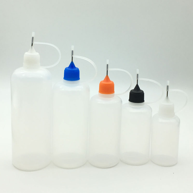 1pcs Empty Plastic Squeezable Needle Bottle 3/5/10/15/20/30/50/100/120ml Eye Liquid Dropper Sample Eyes Drop Refillable Bottle